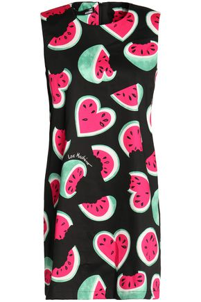 LOVE MOSCHINO Printed cotton mini dress