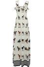 STELLA McCARTNEY Ruffle-trimmed smocked printed silk maxi dress