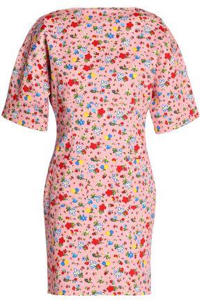 LOVE MOSCHINO Floral-print cotton mini dress