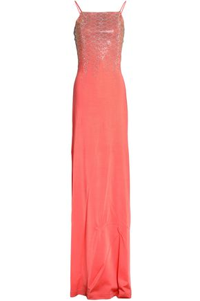 JUST CAVALLI Embellished crepe gown