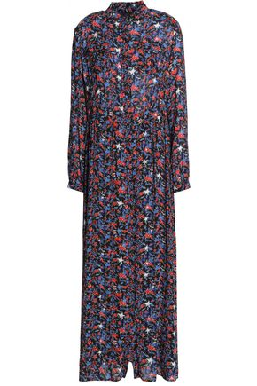 JUST CAVALLI Printed crepe maxi dress