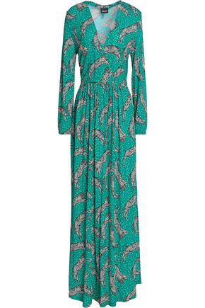 JUST CAVALLI Printed jersey maxi dress