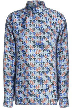EMILIO PUCCI Printed silk-satin top
