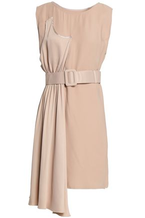 MM6 MAISON MARGIELA Paneled satin and crepe mini dress