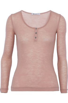 T by ALEXANDER WANG Ribbed wool top