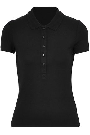 T by ALEXANDER WANG Piqué polo shirt
