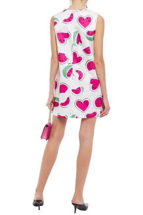 LOVE MOSCHINO Printed cotton-blend mini dress