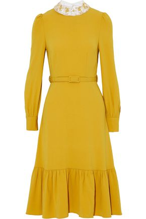 CO Belted crepe dress