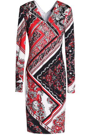 JUST CAVALLI Crystal-embellished stretch-knit dress