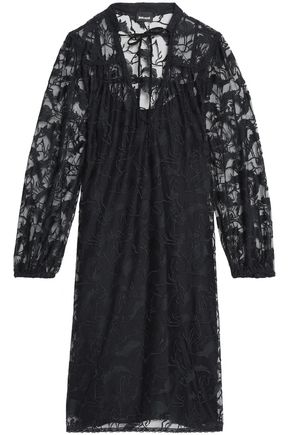 JUST CAVALLI Embroidered tulle dress