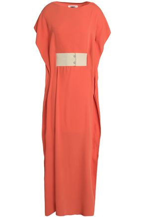 MM6 MAISON MARGIELA Draped belted crepe maxi dress