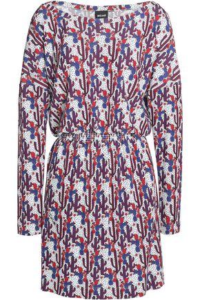 JUST CAVALLI Printed stretch-knit mini dress