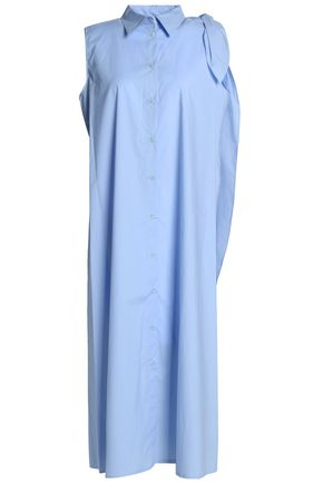 MM6 MAISON MARGIELA Draped cotton-poplin shirt dress