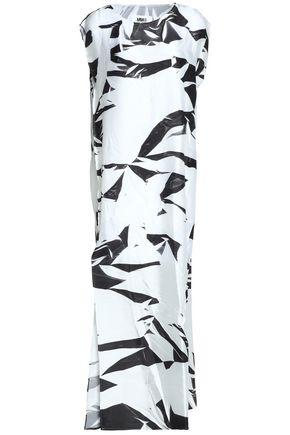MM6 MAISON MARGIELA Printed satin maxi dress