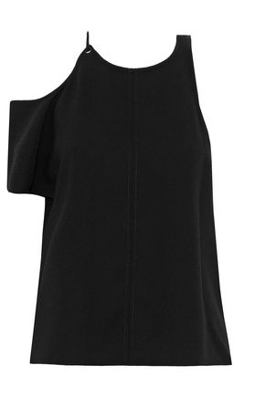 T by ALEXANDER WANG One-shoulder cutout crepe top