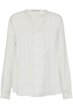 STELLA McCARTNEY Striped silk-chiffon top