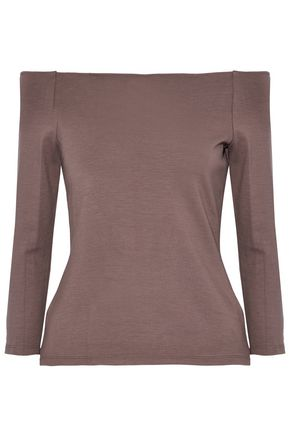 L'AGENCE Off-the-shoulder stretch-jersey top