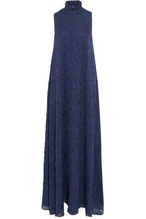 CO Metallic fil coupé silk-blend chiffon gown