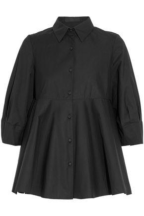 CO Fluted cotton-poplin shirt