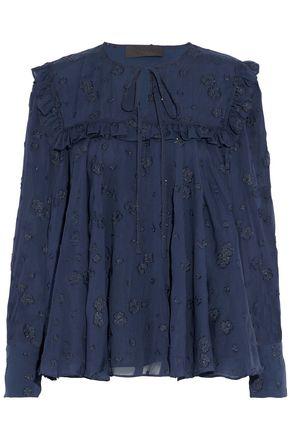 CO Metallic fil coupé silk-blend chiffon blouse