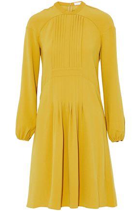 CO Pintucked crepe dress