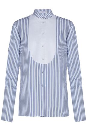 J.W.ANDERSON Pintucked striped cotton-poplin shirt