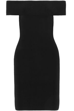 T by ALEXANDER WANG Off-the-shoulder stretch-knit mini dress