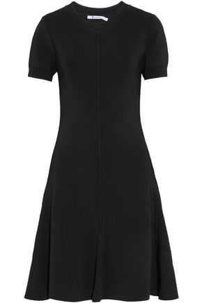 T by ALEXANDER WANG Fluted ribbed stretch-knit dress