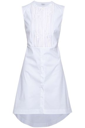BRUNELLO CUCINELLI Sequin-embellished plissé cotton-blend dress