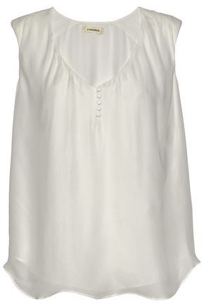 L'AGENCE Silk crepe de chine top