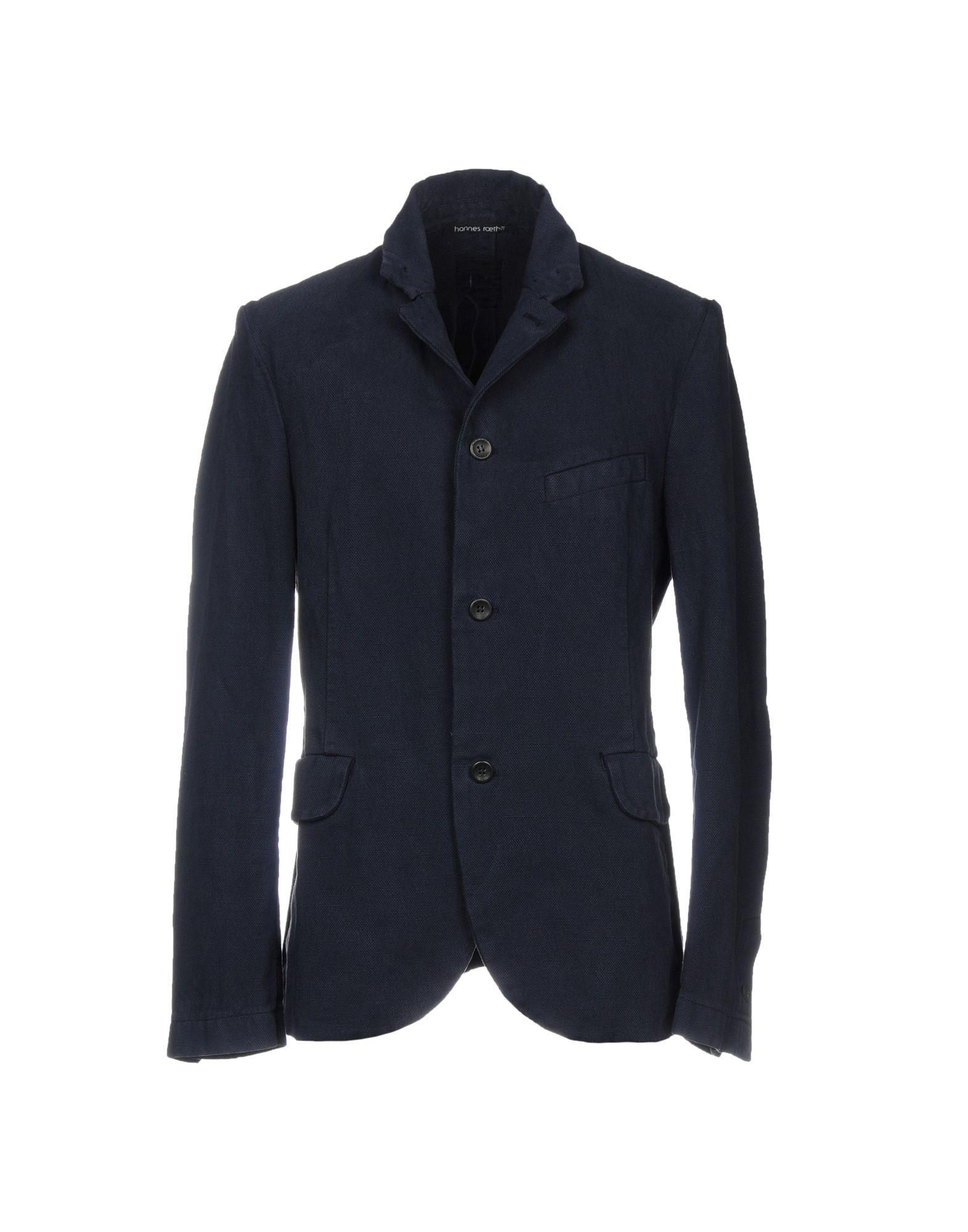 HANNES ROETHER Blazer in Dark Blue