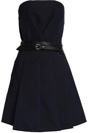 VICTORIA, VICTORIA BECKHAM Belted cady strapless dress
