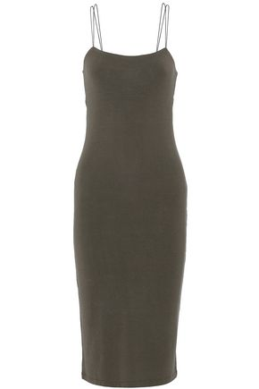 T by ALEXANDER WANG Cutout stretch-modal jersey dress