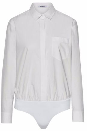T by ALEXANDER WANG Cotton-poplin bodysuit