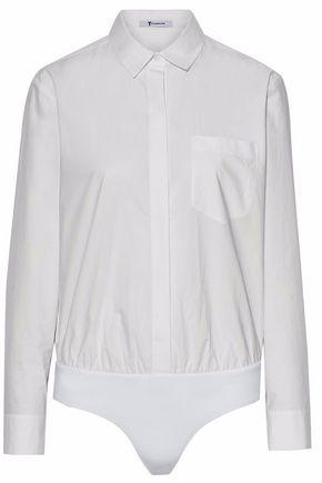 ALEXANDERWANG.T Cotton-poplin bodysuit