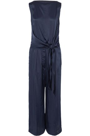 BRUNELLO CUCINELLI Knotted satin jumpsuit