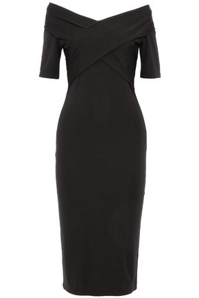 T by ALEXANDER WANG Off-the-shoulder stretch-jersey dress