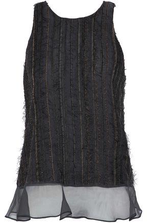 BRUNELLO CUCINELLI Embellished silk-chiffon top