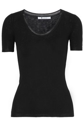 T by ALEXANDER WANG Ribbed-knit top