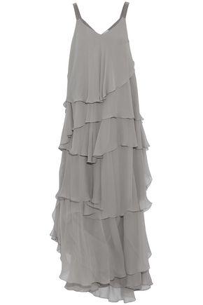 BRUNELLO CUCINELLI Ruffled embellished silk-chiffon gown