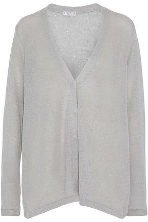 BRUNELLO CUCINELLI Sequined linen and silk-blend cardigan