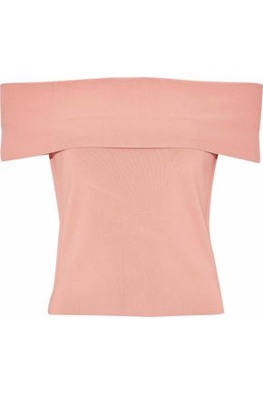 T by ALEXANDER WANG Off-the-shoulder stretch-knit top