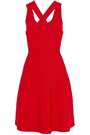 T by ALEXANDER WANG Flared ponte dress