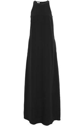 BRUNELLO CUCINELLI Fluted silk crepe de chine gown