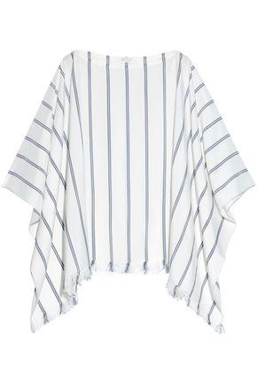 BRUNELLO CUCINELLI Draped striped silk blouse