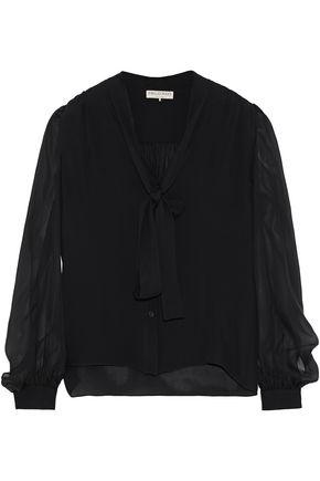 EMILIO PUCCI Pussy-bow silk-chiffon blouse