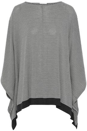 BRUNELLO CUCINELLI Draped striped wool and cashmere-blend top