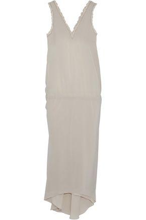 BRUNELLO CUCINELLI Bead-embellished silk midi dress