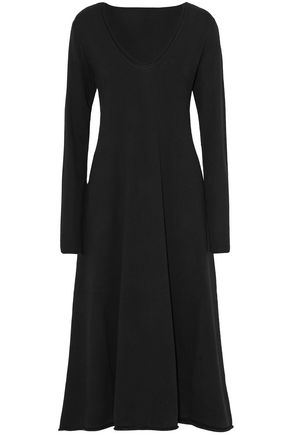 T by ALEXANDER WANG Fluted wool midi dress