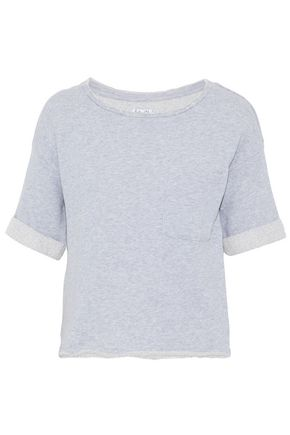 SPLENDID Frayed cotton-terry top